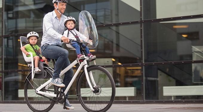Hamax Observer fietszitje voorop